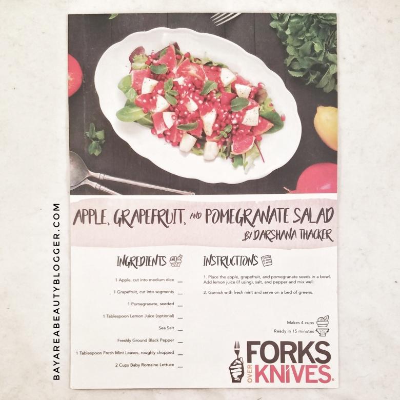 Forks over Knives Apple Grapefruit and Pomegranate Salad