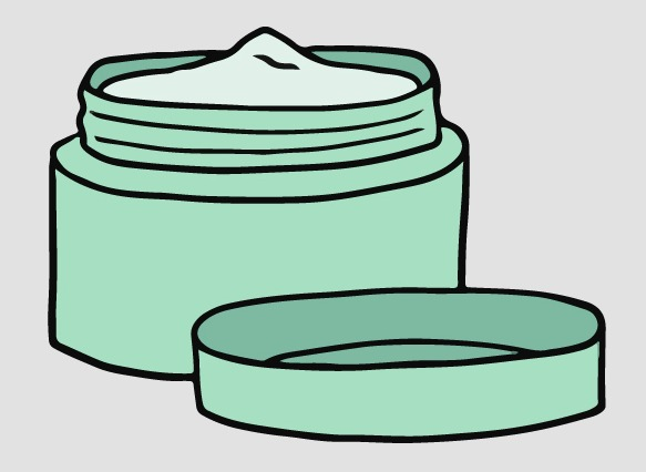 Green Eye Cream Container Graphic