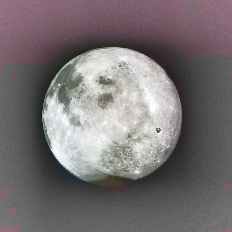 Satellite Image of the Moon