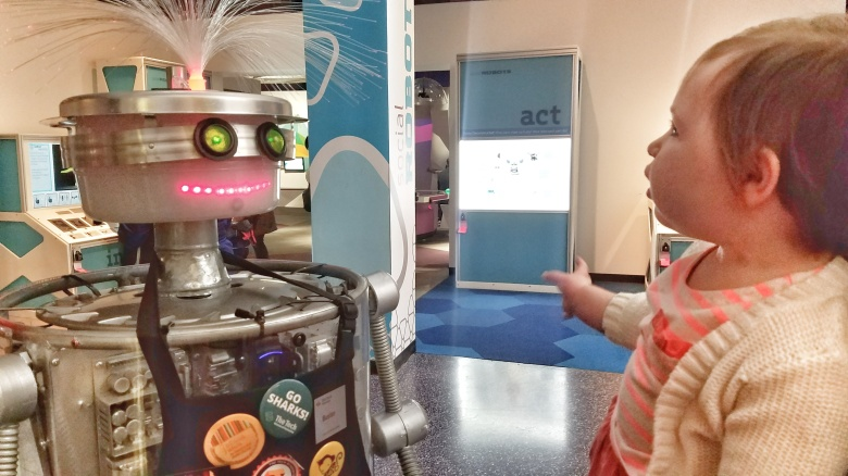 A Robot you can Talk to at the Tech Museum in San Jose