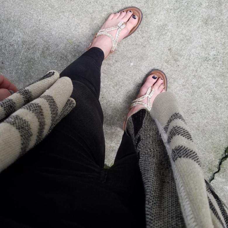 Gold ShoeDazzel Sandals
