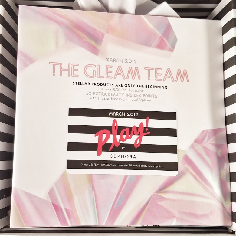 Play! by Sephora March 2017 Subscription Box