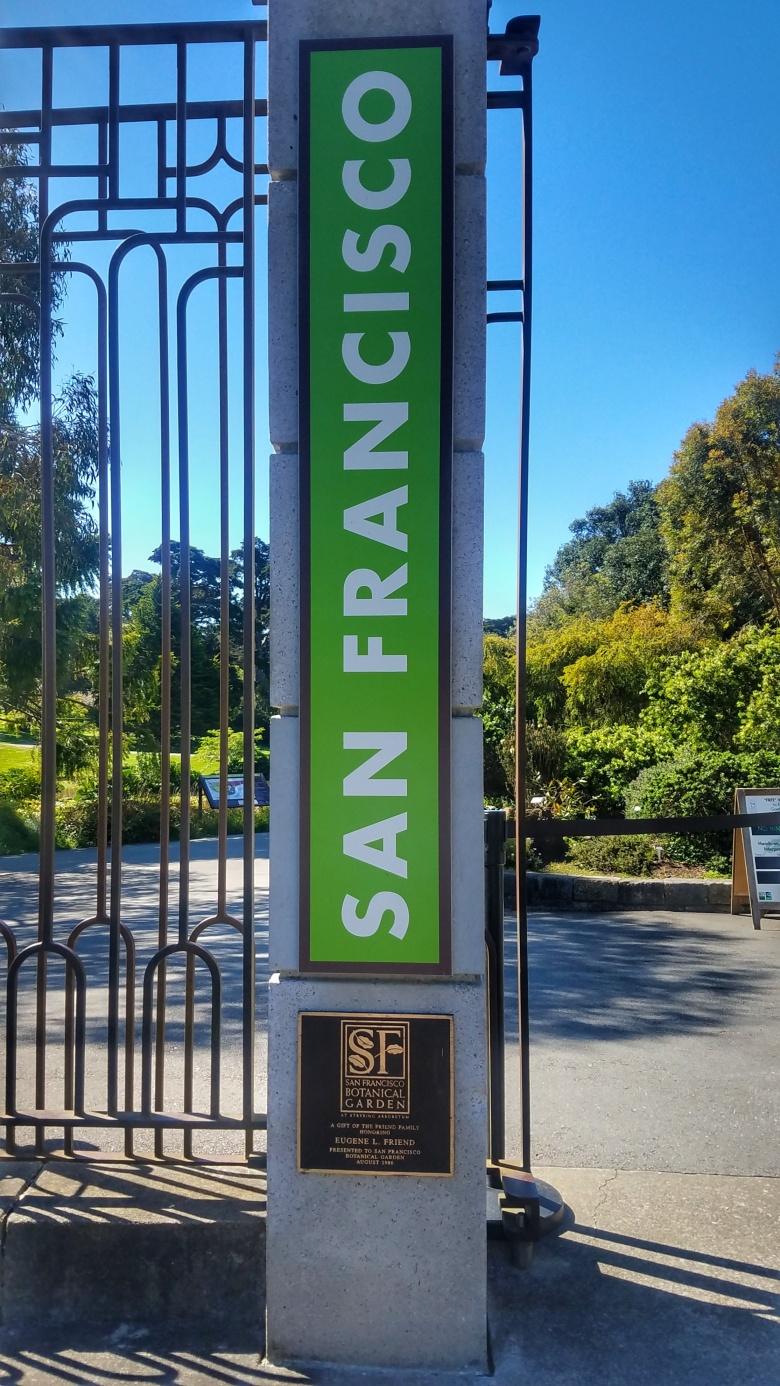 Entering the Friend Gate at the San Francisco Botanical Garden