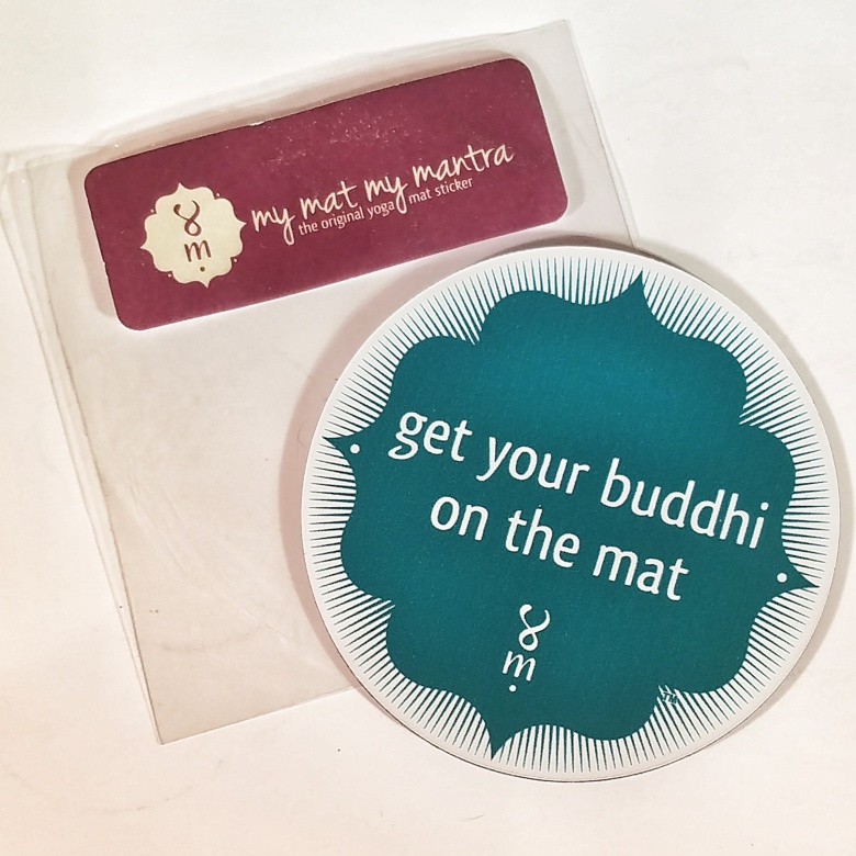 My Mat, My Mantra Yoga Mat Sticker